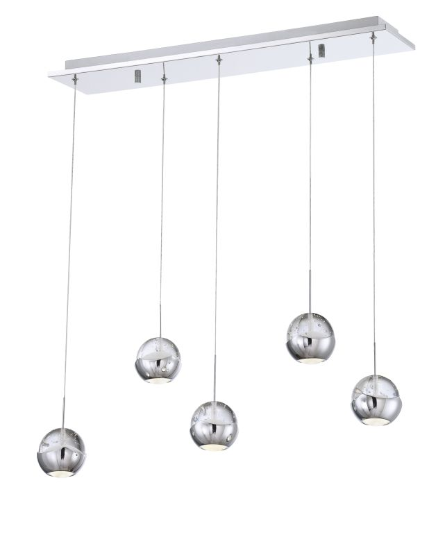 Eurofase Lighting 25665-017 Chrome Contemporary Ice Pendant