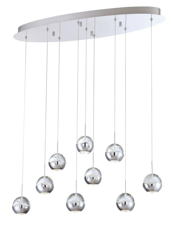 Eurofase Lighting 25666-014 Chrome Contemporary Ice Pendant