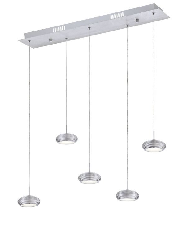 Eurofase Lighting 25669 Venti 5 Light Modern LED Linear Pendant with
