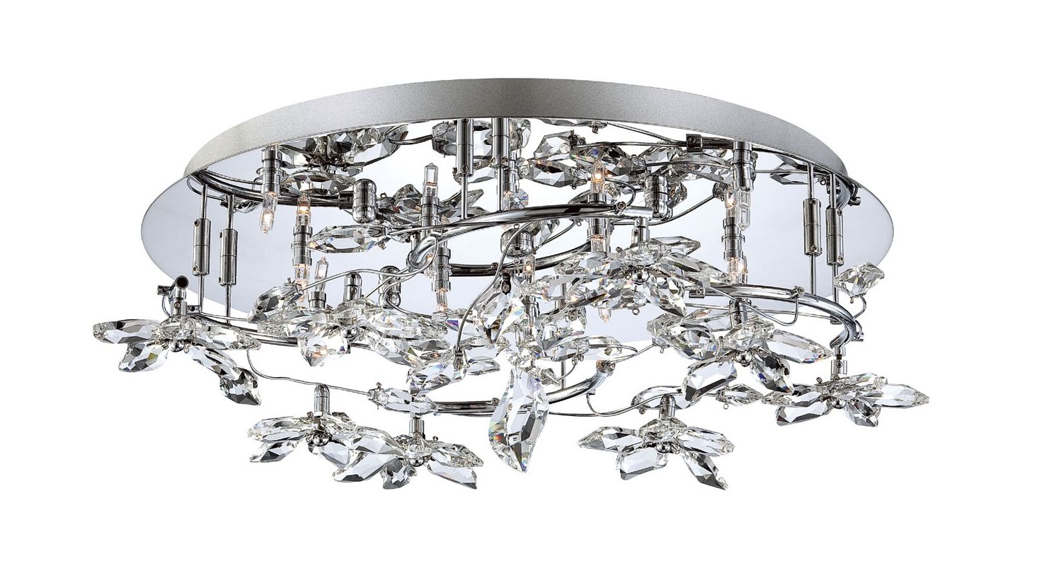 Eurofase Lighting 25678-017 Chrome Contemporary Vista Ceiling Light
