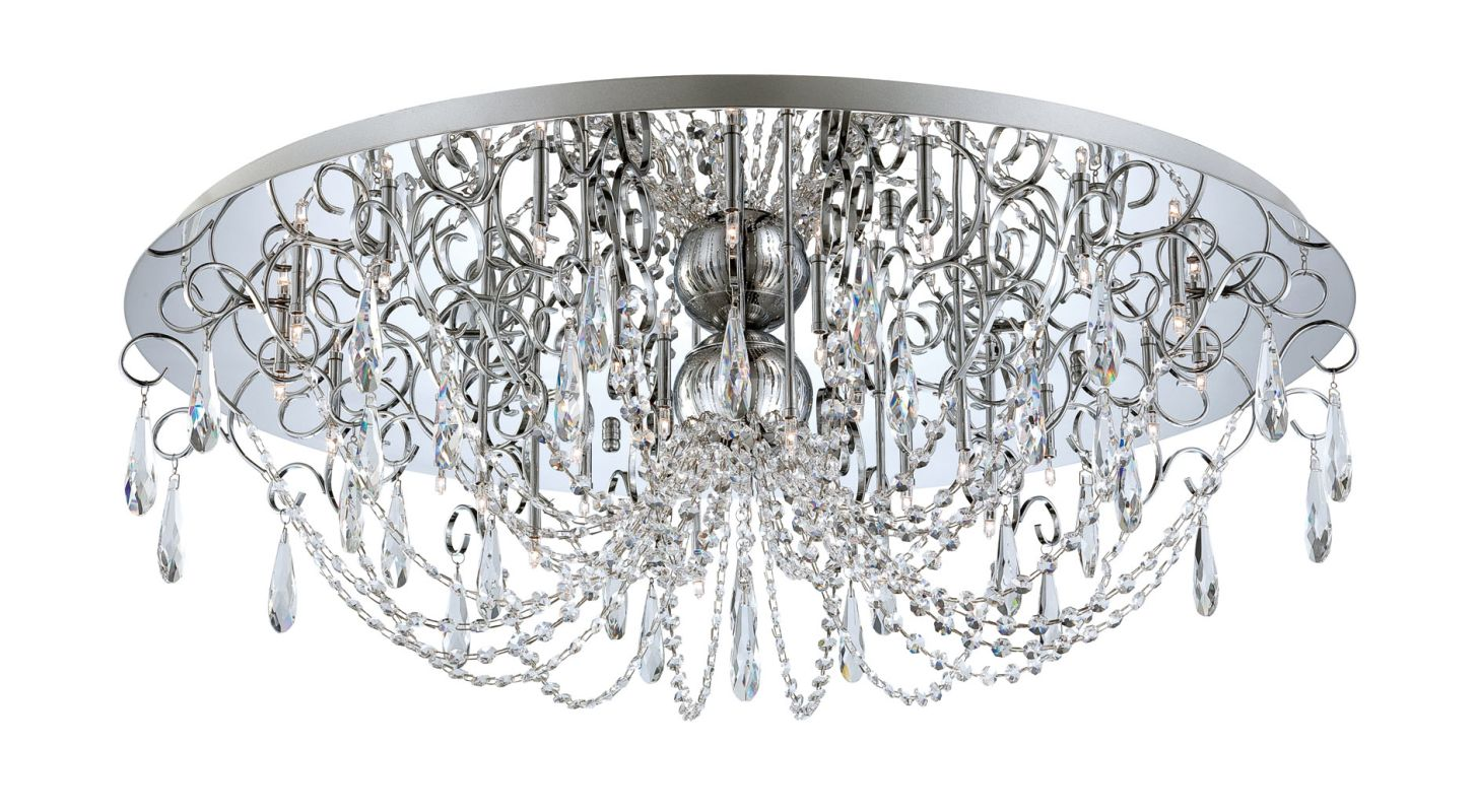 Eurofase Lighting 25686 Alto 28 Light Crystal Flush Mount Ceiling