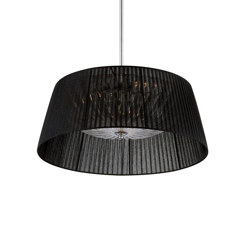 Eurofase Lighting 25707 Salvo 3 Light Pendant with Tapered Fabric