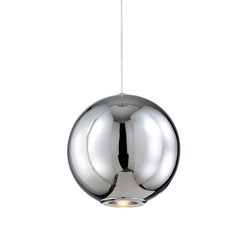 Eurofase Lighting 26231 Pearla 1 Light Hand Polished Pendant Chrome