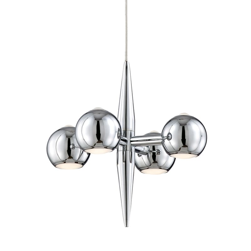Eurofase Lighting 26232 Pearla 4 Light Hand Polished Pendant Chrome