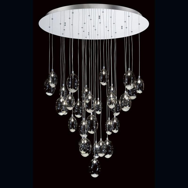 Eurofase Lighting 26247 Hazelton 31 Light Ceiling Fixture with Chrome