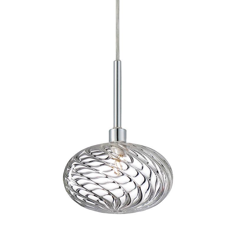 Eurofase Lighting 26253 Spadina 1 Light Pendant with Chrome Accents