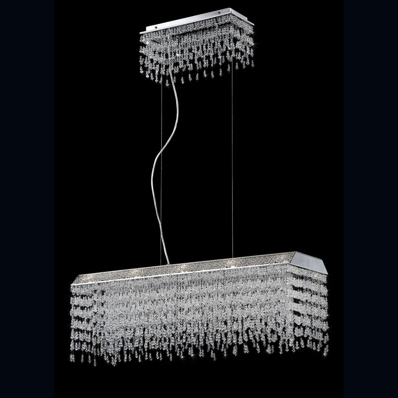 Eurofase Lighting 26326 Fonte 10 Light 1 Tier Chandelier with Crystal