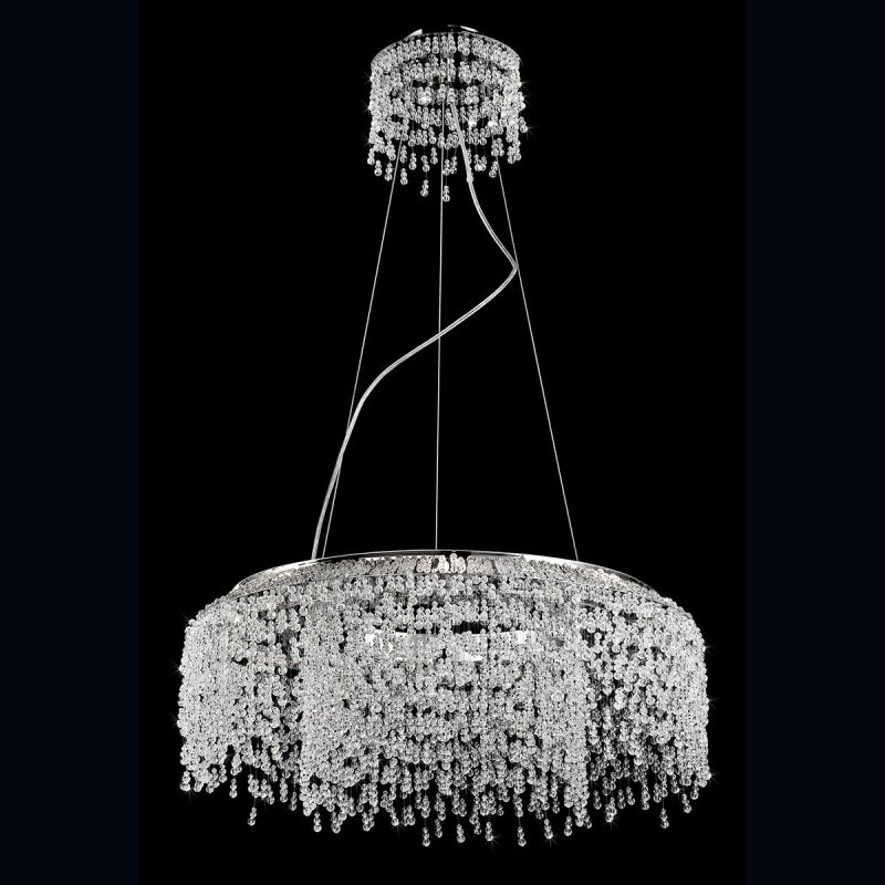 Eurofase Lighting 26327 Fonte 8 Light 1 Tier Chandelier with Crystal
