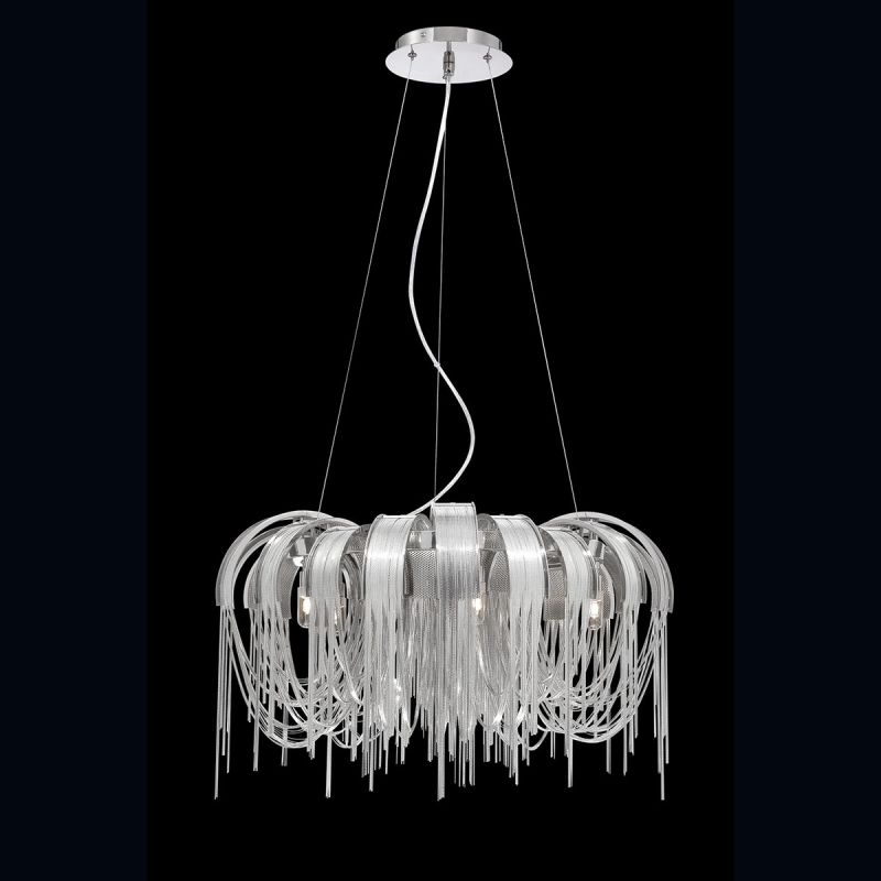 Eurofase Lighting 26335 Avenue 5 Light 1 Tier Chandelier with Draped