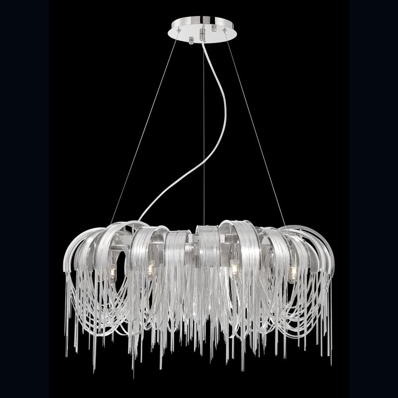 Eurofase Lighting 26336 Avenue 8 Light 1 Tier Chandelier with Draped