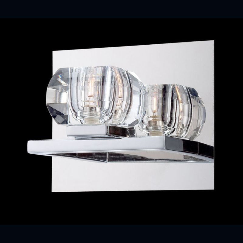 Eurofase Lighting 26356 Casa 1 Light Crystal Wall Sconce Chrome Indoor
