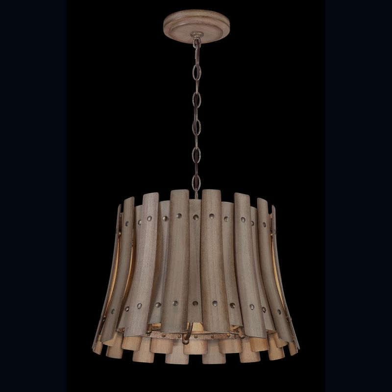 Eurofase Lighting 26363 Panello 4 Light Chandelier with Bronzed Rivets
