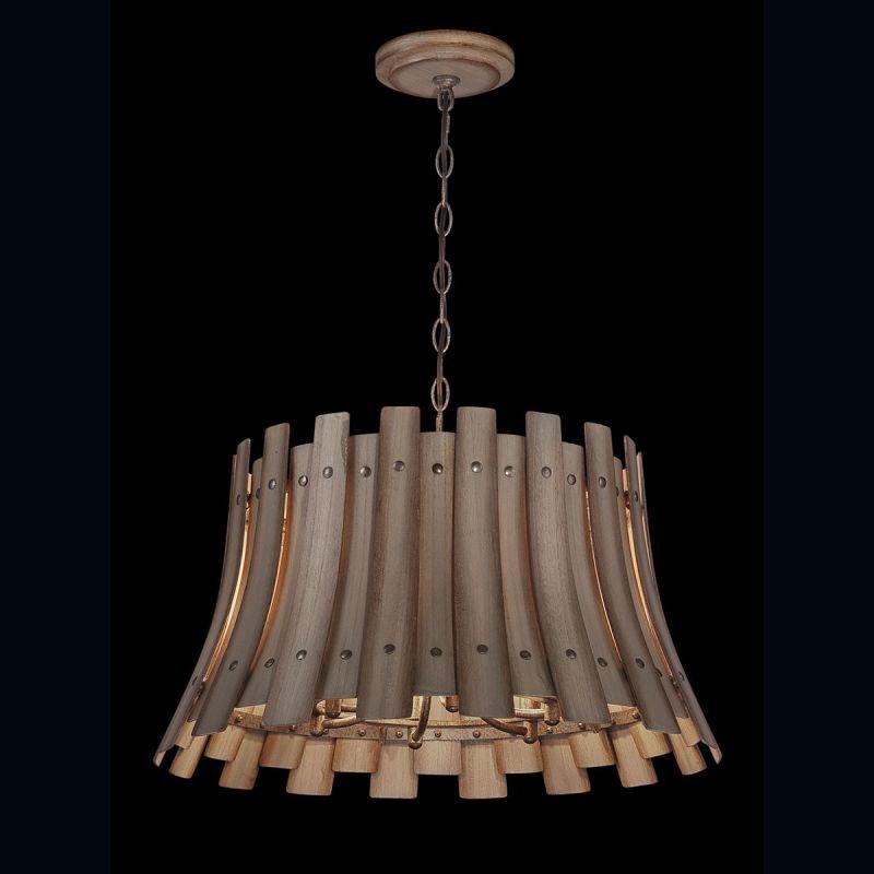 Eurofase Lighting 26364 Panello 6 Light Chandelier with Bronzed Rivets