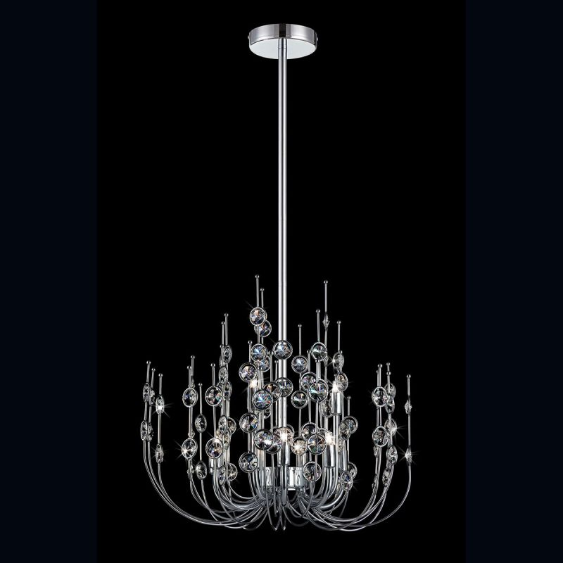 Eurofase Lighting 26390 Vice 9 Light 3 Tier Chandelier with Crystal