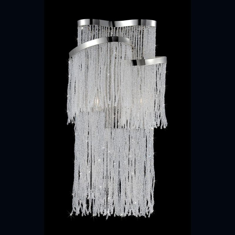 Eurofase Lighting 26610 Ellena 2 Light Wall Sconce with Flowing Beads