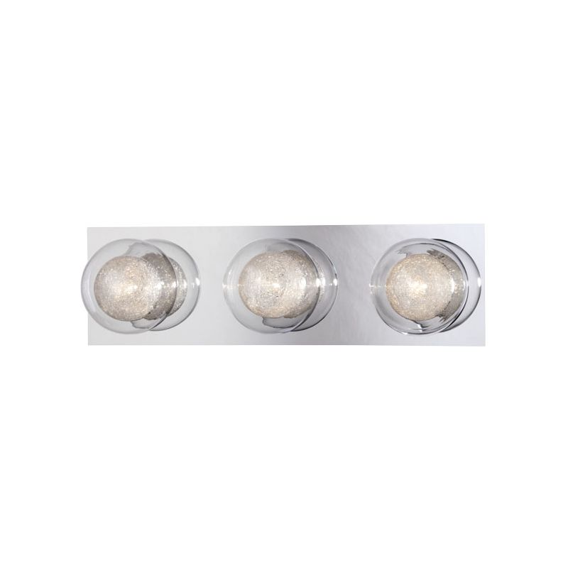 Eurofase Lighting 27201 Cambria 3 Light Bathroom Vanity Fixture Chrome