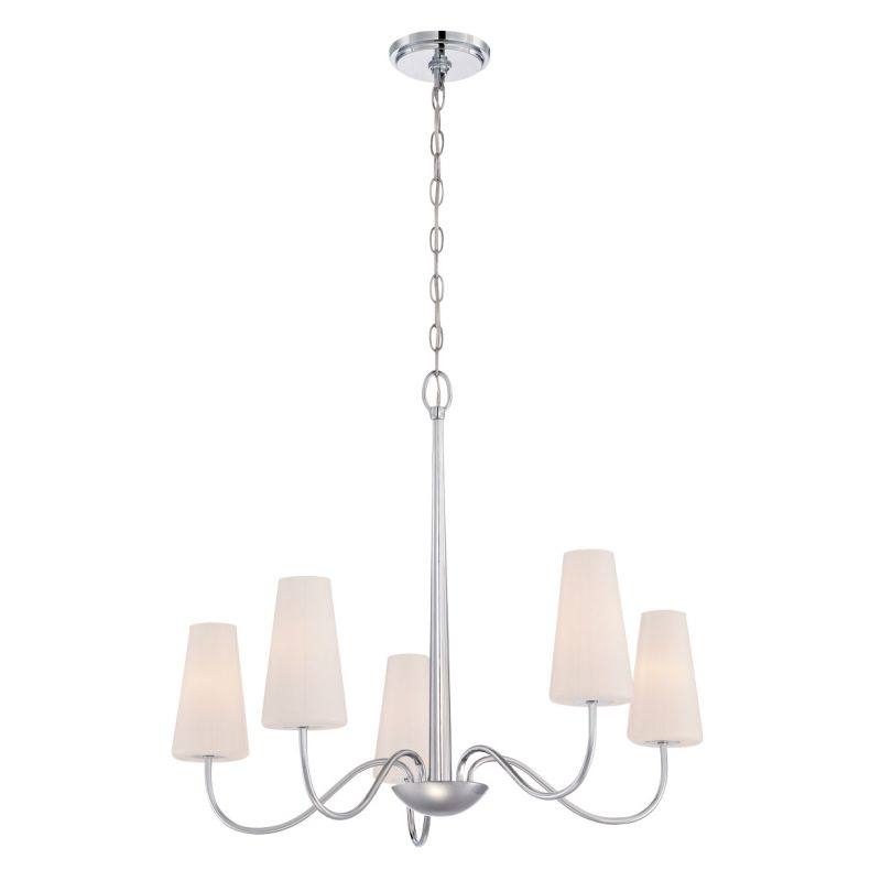Eurofase Lighting 27968 Enza 5 Light Chandelier Chrome Indoor Lighting