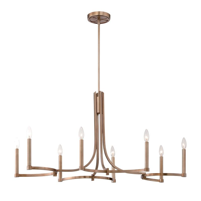 Eurofase Lighting 28058 Cantu 8 Light Chandelier Satin Gold Indoor Sale $992.00 ITEM: bci2659783 ID#:28058-014 UPC: 773546251617 :
