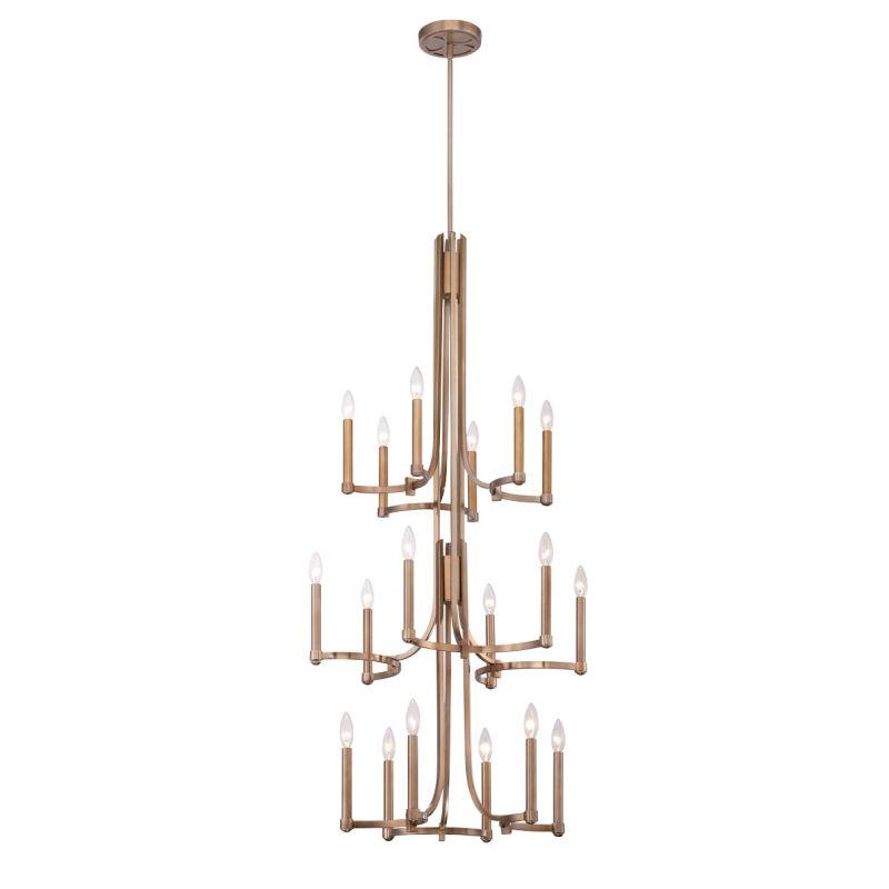 Eurofase Lighting 28061 Cantu 18 Light Chandelier Satin Gold Indoor