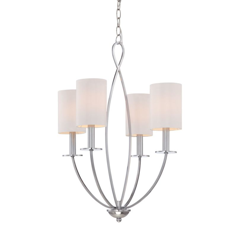 Eurofase Lighting 28071 Castana 4 Light Chandelier Chrome Indoor Sale $440.00 ITEM: bci2659797 ID#:28071-020 UPC: 773546251815 :
