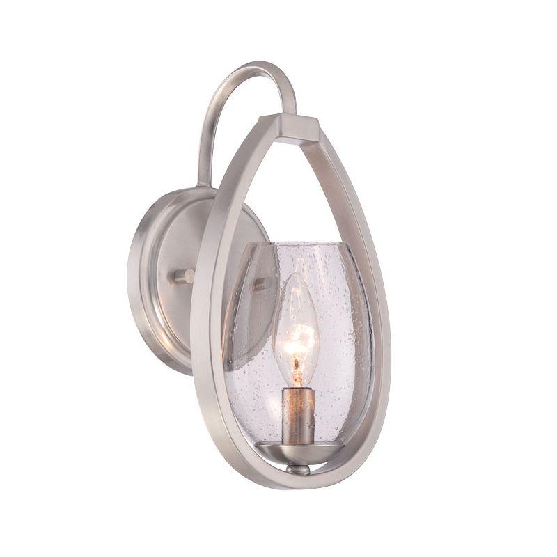 Eurofase Lighting 28074 Fantini 1 Light Wall Sconce Satin Nickel