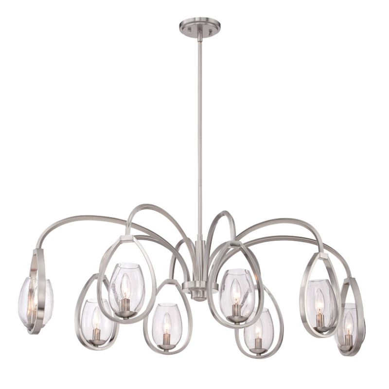 Eurofase Lighting 28077 Fantini 8 Light Chandelier Satin Nickel Indoor Sale $1048.00 ITEM: bci2659804 ID#:28077-015 UPC: 773546251914 :