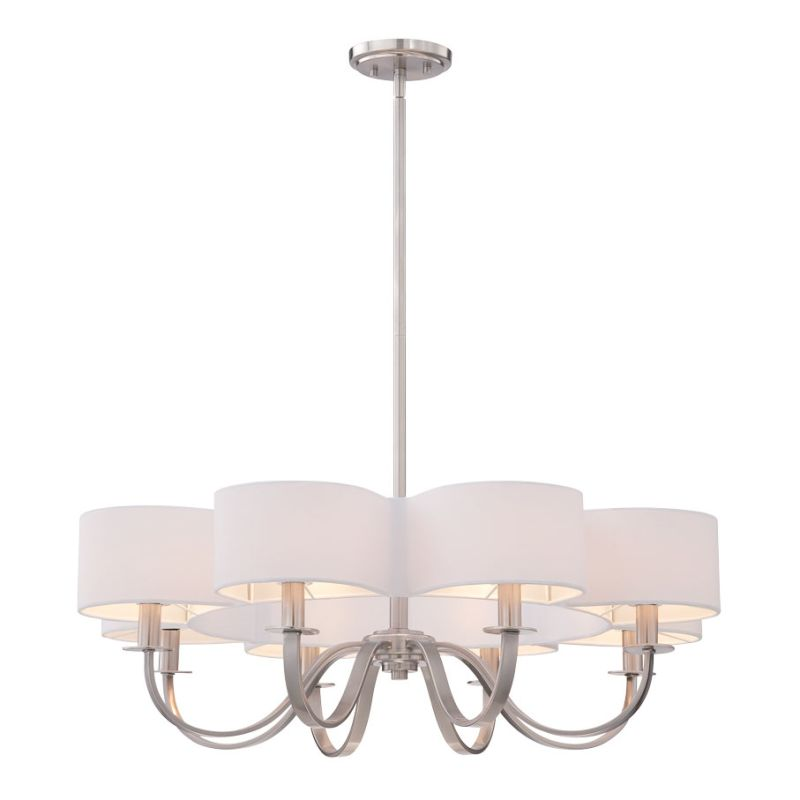 Eurofase Lighting 28081 Bertucci 8 Light Chandelier Satin Nickel