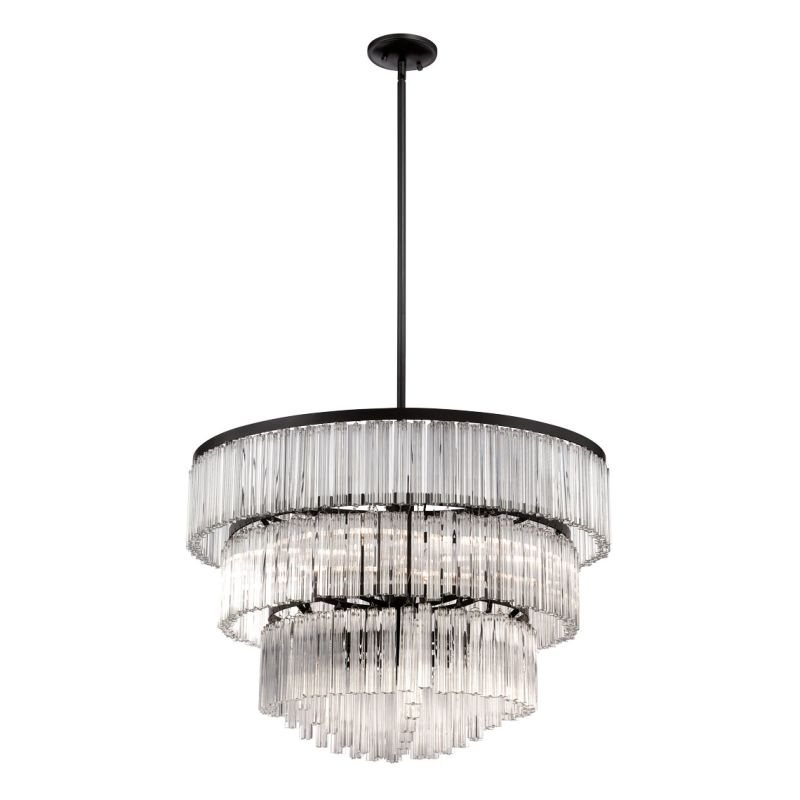 Eurofase Lighting 28084 Ziccardi 9 Light 2 Tier Chandelier Oil Rubbed