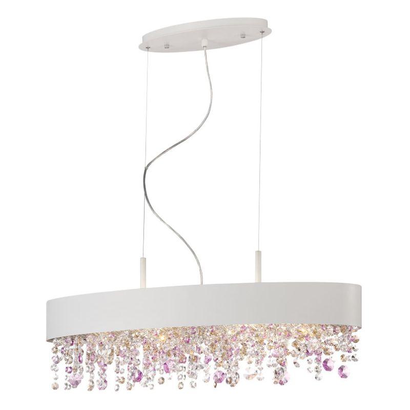 Eurofase Lighting 28147 Romanelli 6 Light Chandelier White Indoor