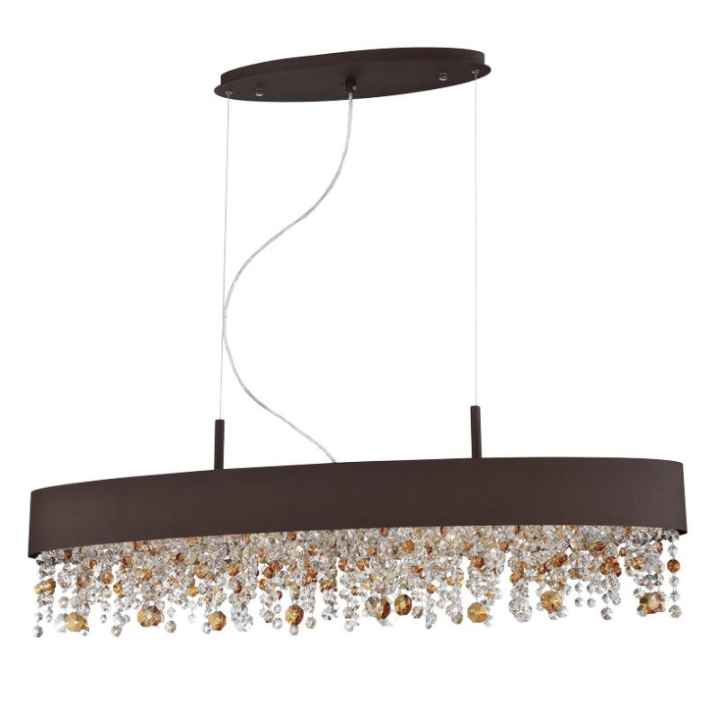 Eurofase Lighting 28148 Romanelli 6 Light Chandelier Dark Coffee Sale $1048.00 ITEM: bci2659855 ID#:28148-029 UPC: 773546254144 :