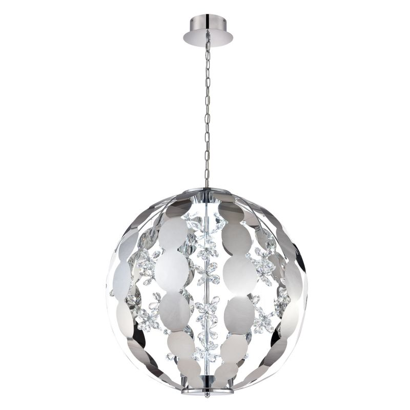 Eurofase Lighting 28160 World 2 Light LED Chandelier Chrome Indoor