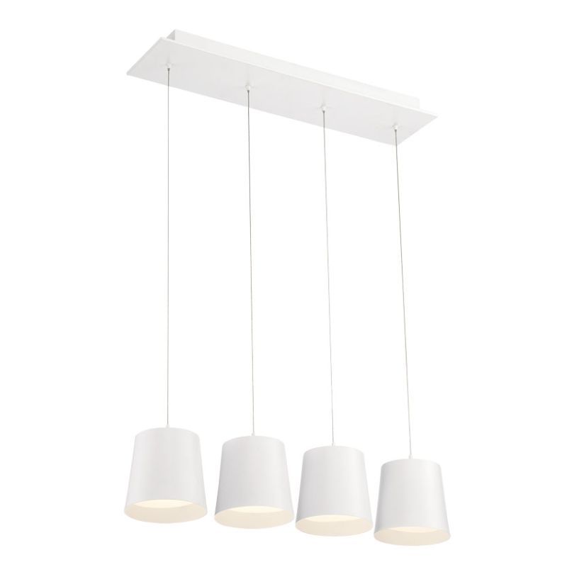 Eurofase Lighting 28162 Borto 4 Light LED Linear Pendant White Indoor