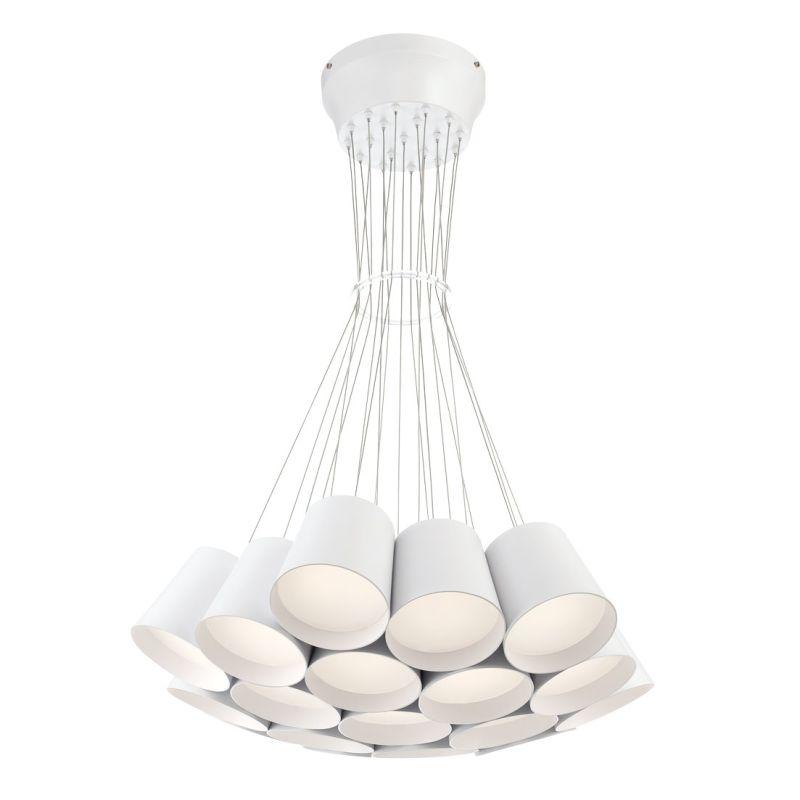 Eurofase Lighting 28165 Borto 19 Light LED Chandelier White Indoor