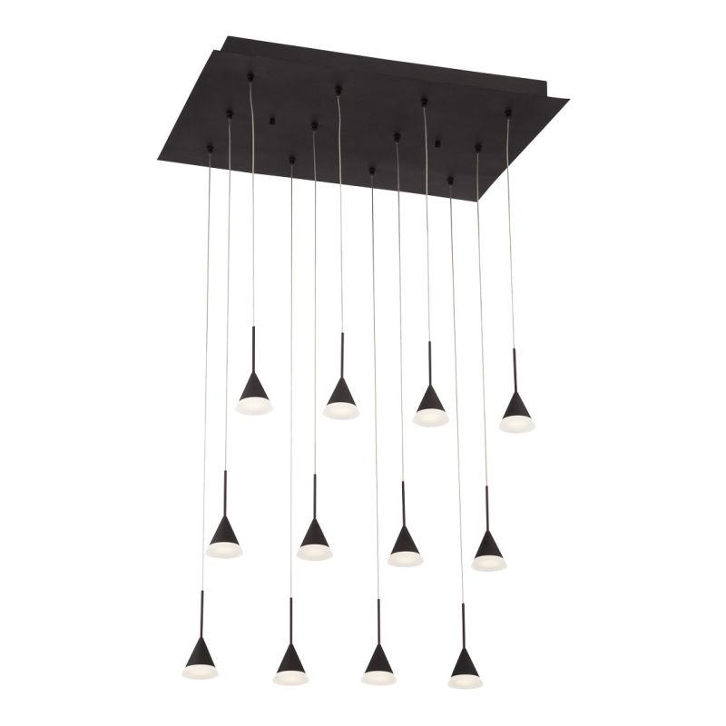 Eurofase Lighting 28176 Albion 12 Light LED Multi Light Pendant Black