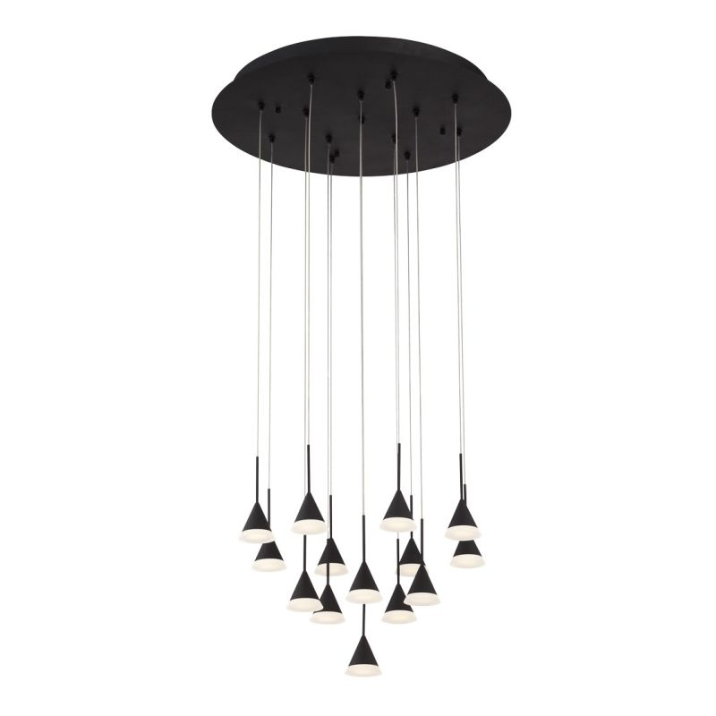 Eurofase Lighting 28177 Albion 14 Light LED Multi Light Pendant Black