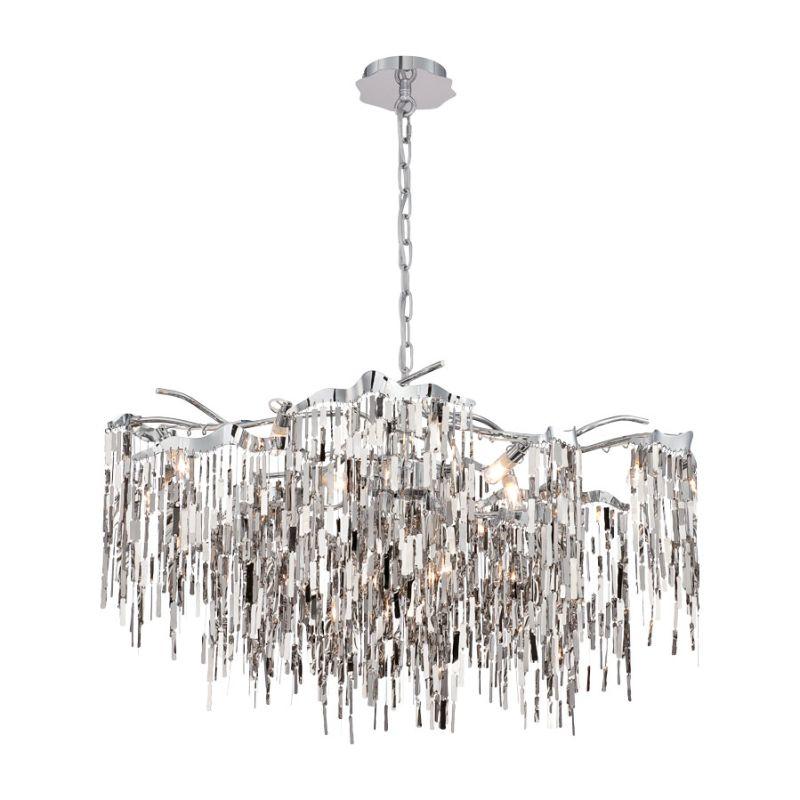 Eurofase Lighting 28355 Elfassy 12 Light Chandelier Chrome Indoor