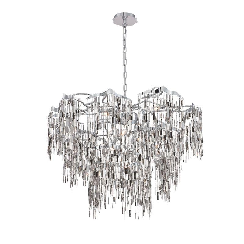 Eurofase Lighting 28356 Elfassy 16 Light Chandelier Chrome Indoor