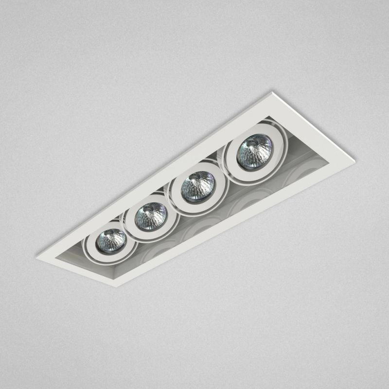 "Eurofase Lighting TE114A 4 Light 19"" Rectangle Adjustable Recessed"