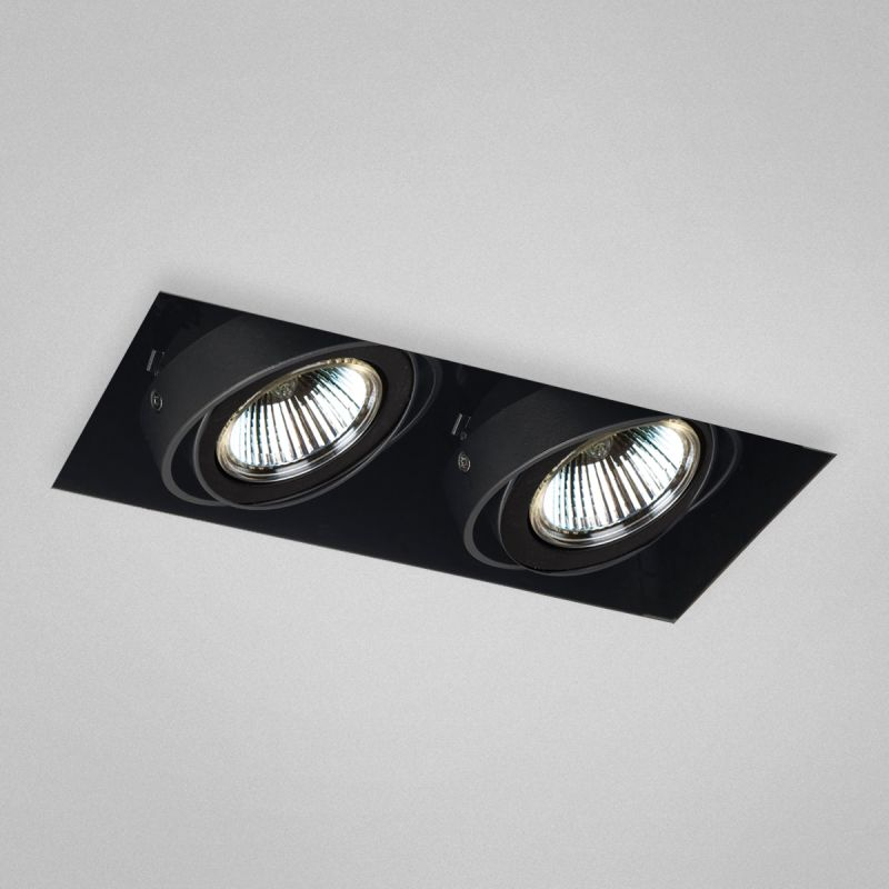Eurofase Lighting TE212 Trimless Multi Recessed 2 Light Black Recessed