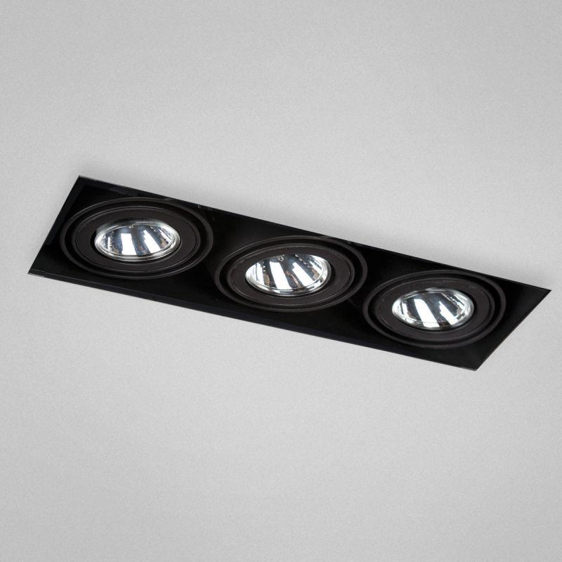 Eurofase Lighting TE213 Trimless Multi Recessed 3 Light Black Recessed