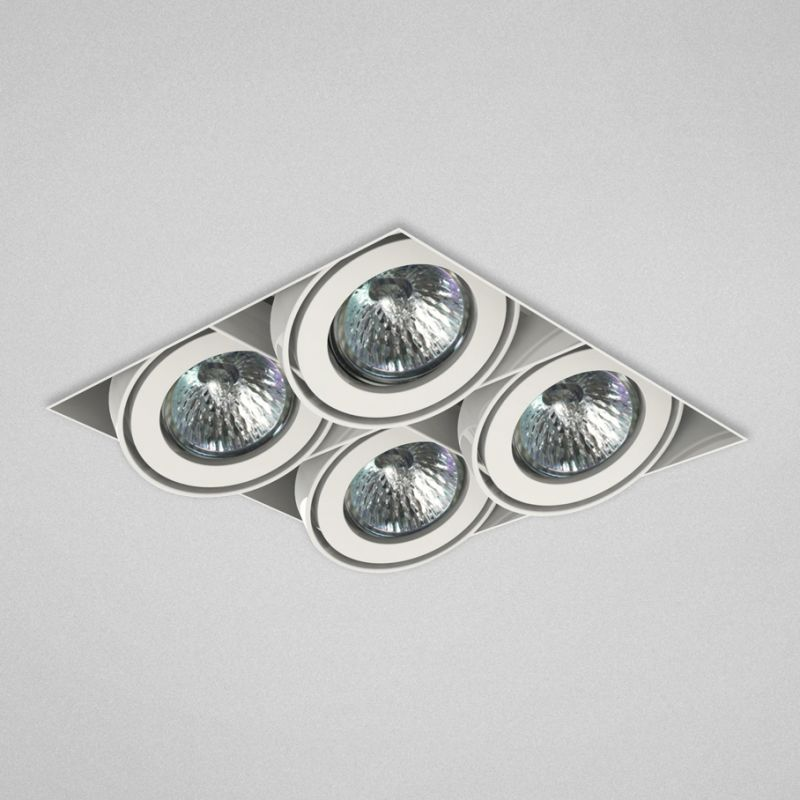 "Eurofase Lighting TE214B 4 Light 9"" Trimless Square Adjustable"