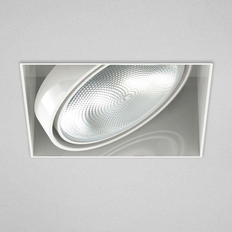 "Eurofase Lighting TE221 1 Light 7"" Trimless Square Adjustable Recessed"