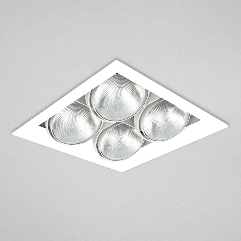 "Eurofase Lighting TE224B 4 Light 13"" Trimless Square Adjustable"