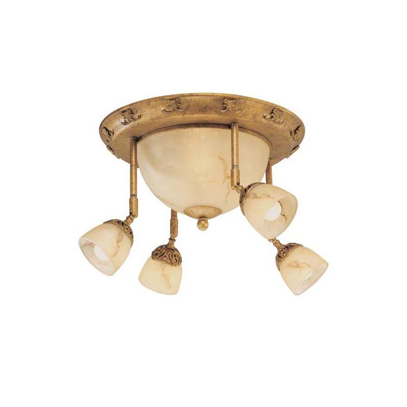 Eurofase Lighting 16259 010 Gold Leaf Amber Astoria 6 Light Fush Mount Ceiling Fixture With 4