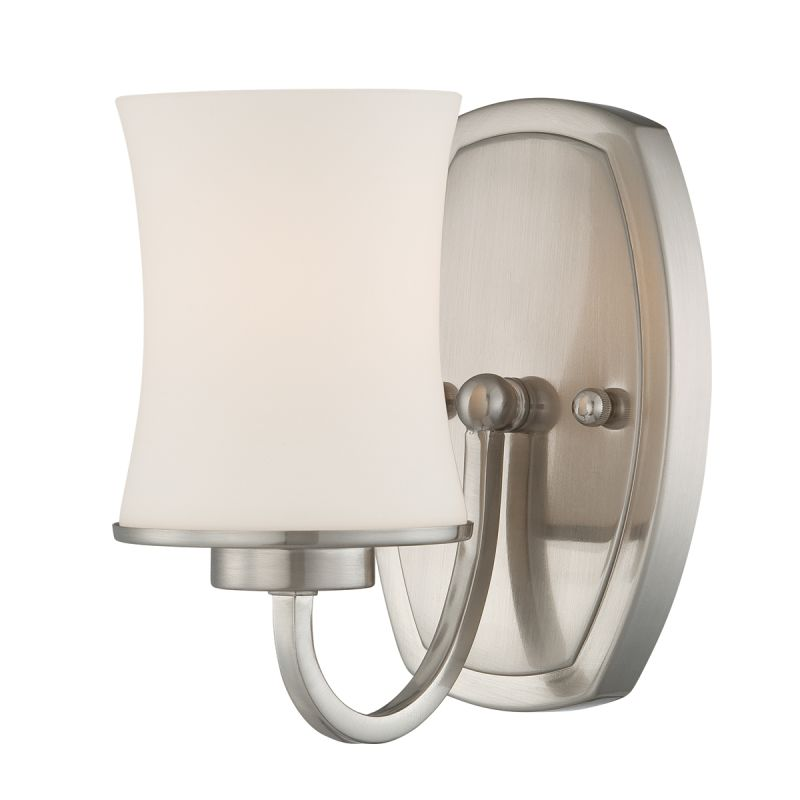 Eurofase Lighting 19405 Dorado 1 Light Wall Sconce Satin Nickel / Opal