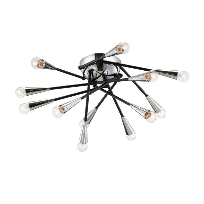 Eurofase Lighting 22802 Zazu 12 Light Flush Mount Ceiling Fixture