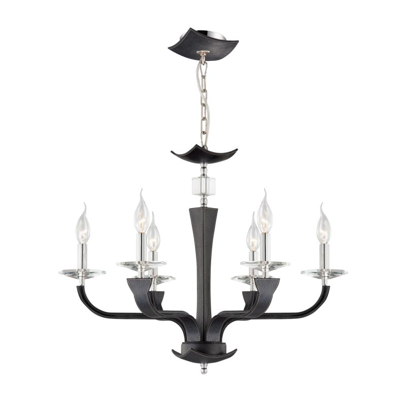Eurofase Lighting 22806 Pella 6 Light Chandelier with Hand Stitched