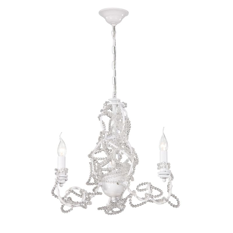 Eurofase Lighting 22930 Fantasia 3 Light Chandelier White / Clear