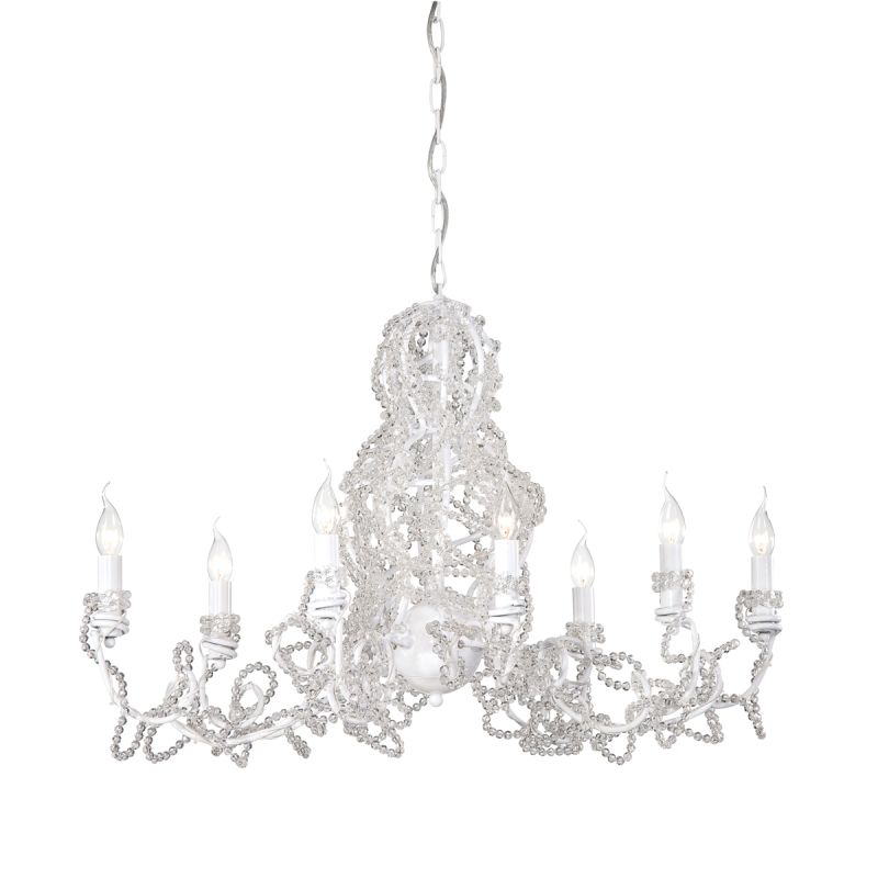 Eurofase Lighting 22932 Fantasia 8 Light Chandelier White / Clear