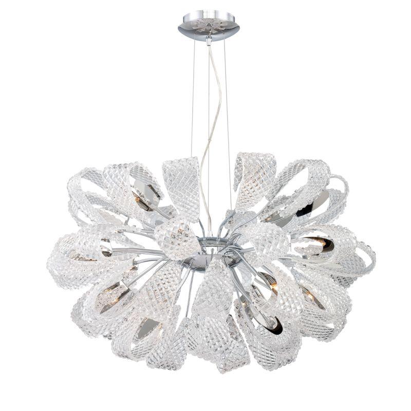 Eurofase Lighting 22951 Origami 21 Light Chandelier Chrome / Clear